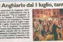 La Nazione di Arezzo 26 giugno 2015
