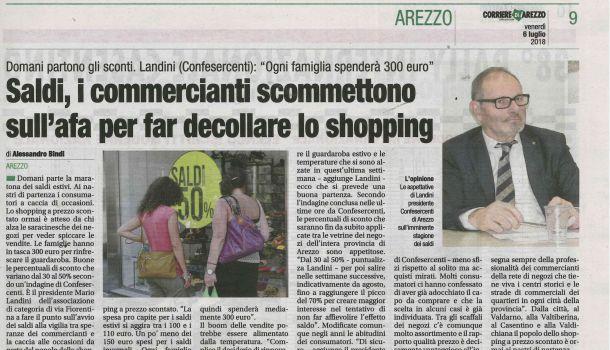 Corriere di Arezzo 6 luglio 2018