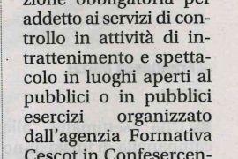 Corriere di Arezzo 6 settembre 2018