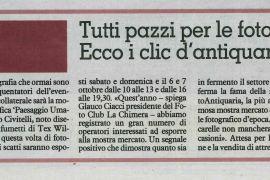 La Nazione di Arezzo 27 settembre 2018