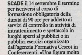 La Nazione di Arezzo 6 settembre 2018