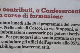 La Nazione di Arezzo 8 novembre 2018