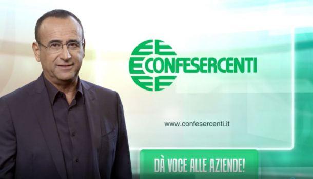 """""""Confesercenti dà voce alle aziende"""": Carlo Conti testimonial"""
