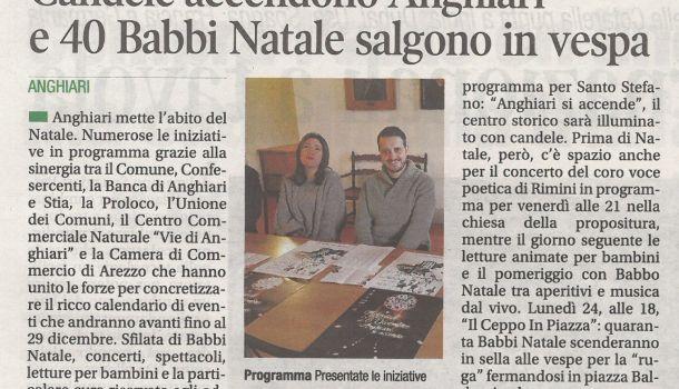 Corriere di Arezzo 18 dicembre 2018