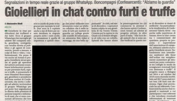 Corriere di Arezzo 28 dicembre 2018