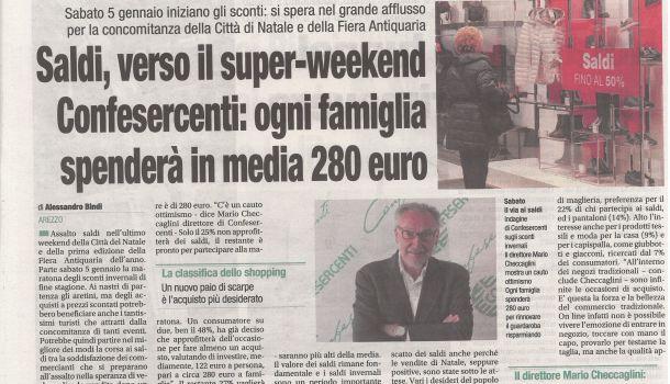 Corriere di Arezzo 3 gennaio 2018