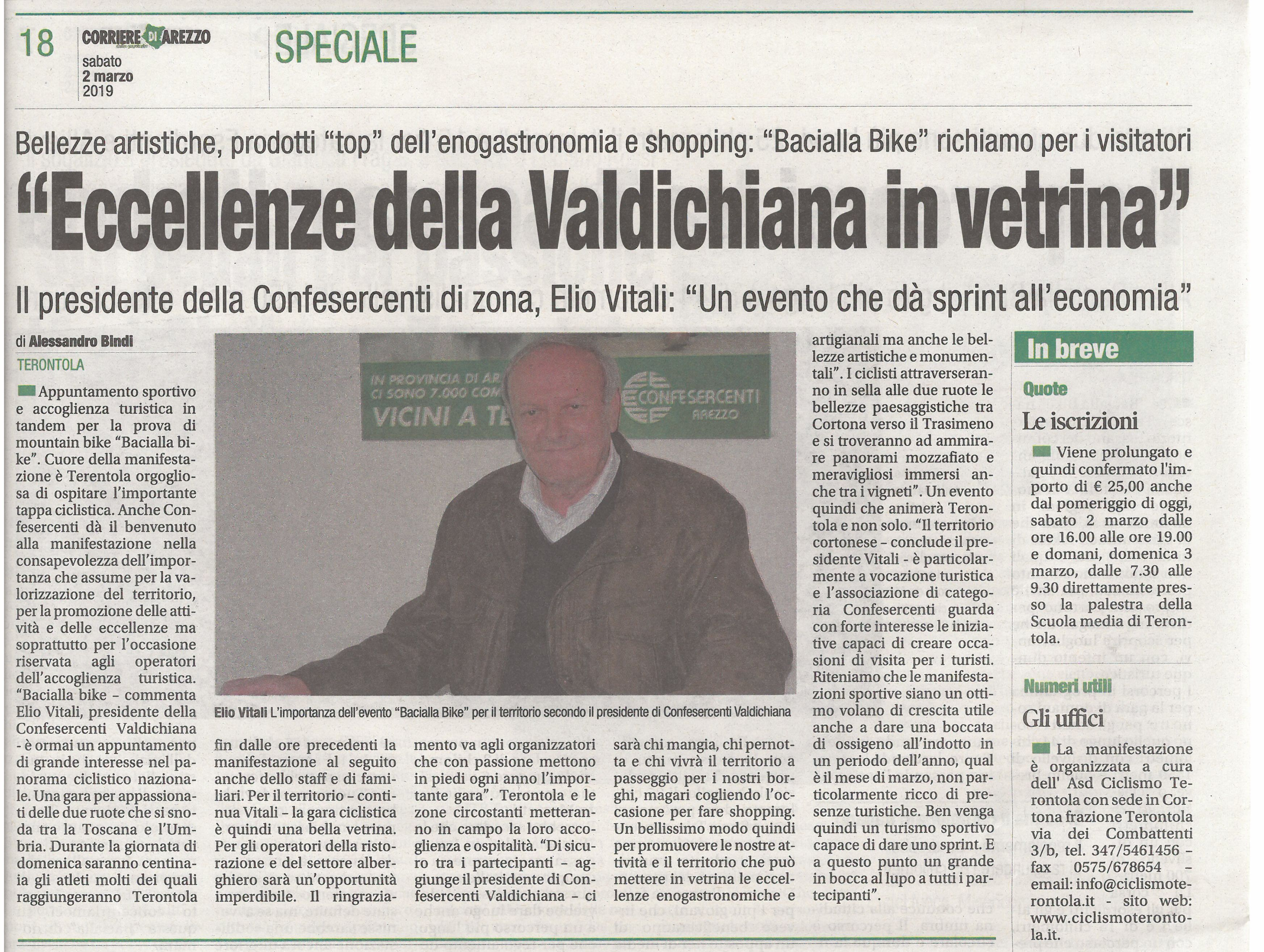 a158fa7b33 Corriere di Arezzo 2 marzo 2019   Confesercenti