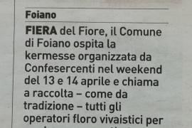 La Nazione di Arezzo 6 aprile 2019