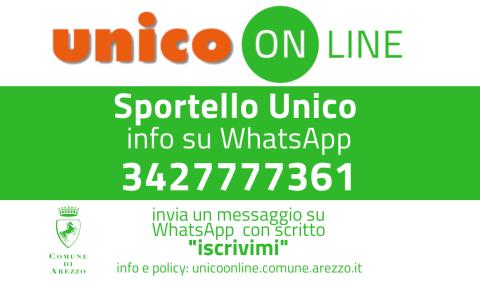 Unico Online: iscrizioni su WhatsApp al numero 3427777361