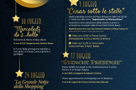 """Notti Sangiovannesi con i """"Mercoledì di luglio"""" a San Giovanni Valdarno"""