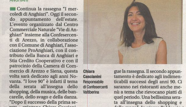 Corriere di Arezzo 10 luglio 2019