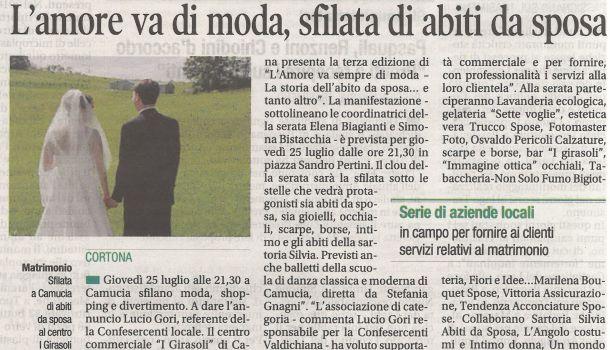 Corriere di Arezzo 23 luglio