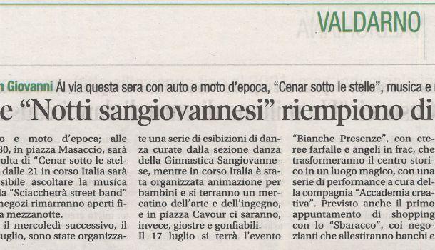 Corriere di Arezzo 3 luglio 2019