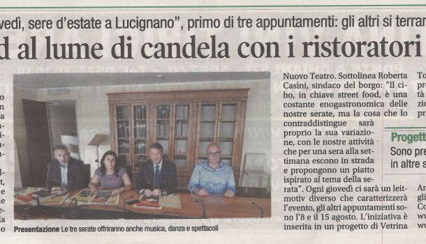 Corriere di Arezzo 31 luglio 2019