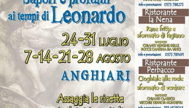 """""""Il genio in tavola"""": mercoledì 24 luglio, Anghiari celebra Leonardo con gastronomia e rievocazioni"""
