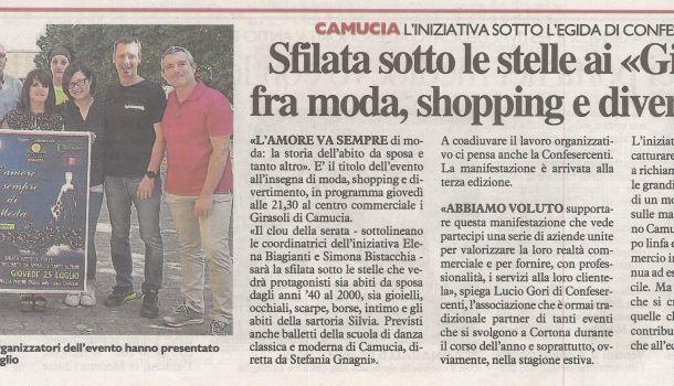 La Nazione di Arezzo 23 luglio 2019