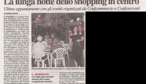 La Nazione di Arezzo 24 luglio 2019