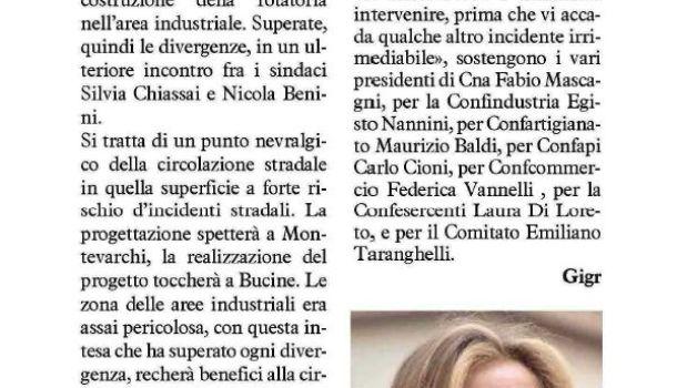 La Nazione di Arezzo 31 luglio 2019