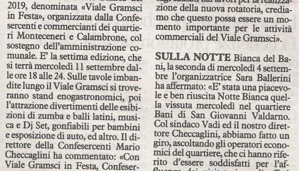 La Nazione di Arezzo 7 settembre 2019