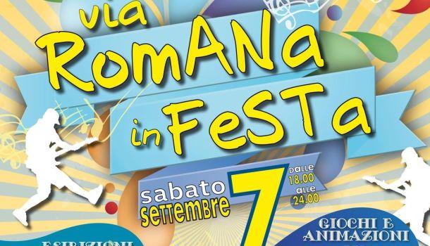 Via Romana in festa: sabato 7 settembre