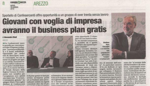 Corriere di Arezzo 19 ottobre 2019