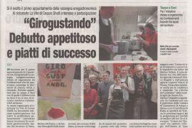 Corriere di Arezzo 9 ottobre 2019