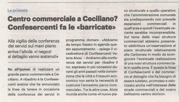 La Nazione di Arezzo 13 novembre 2019