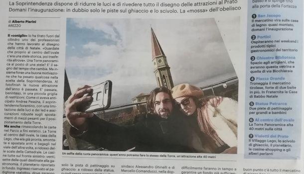 La Nazione di Arezzo 15 novembre 2019