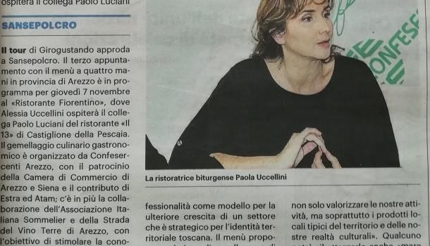 La Nazione di Arezzo 5 novembre 2019