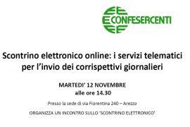 Scontrino elettronico: incontro in Confesercenti
