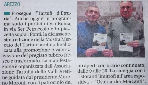 Corriere di Arezzo 8 dicembre 2019