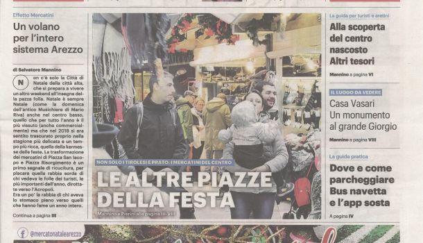 La Nazione di Arezzo 7 dicembre 2019 Speciale Città di Natale Copertina