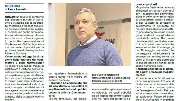 La Nazione di Arezzo 13 maggio 2020