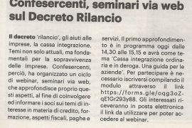 La Nazione di Arezzo 23 giugno 2020