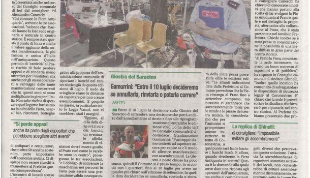Corriere di Arezzo, 1 luglio 2020