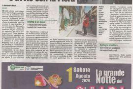 Corriere di Arezzo 30 luglio 2020