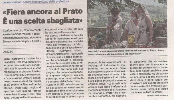 La Nazione di Arezzo, 1 luglio 2020