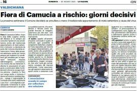La Nazione di Arezzo 30 agosto 2020