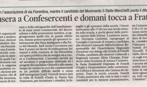 Corriere di Arezzo 3 settembre 2020