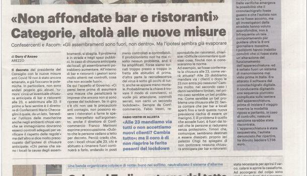 La Nazione di Arezzo 6 ottobre 2020