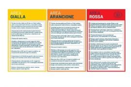 EMERGENZA COVID: MISURE RESTRITTIVE NELLE ZONE GIALLE, ARANCIONI E ROSSE