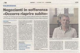 Corriere di Arezzo 1 dicembre 2020