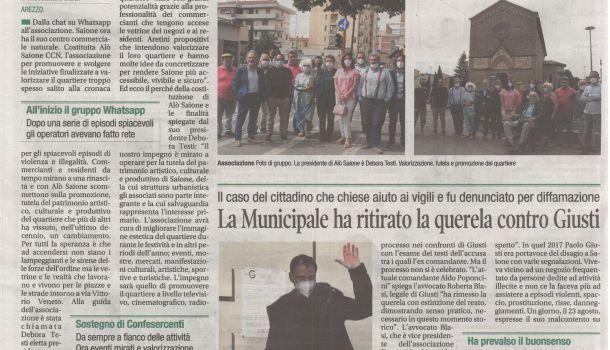 Corriere di Arezzo 14 luglio 2021