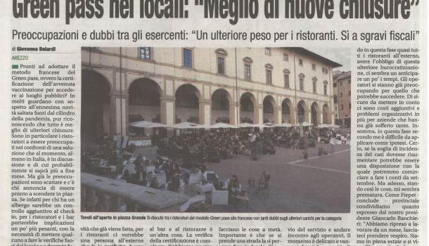 Corriere di Arezzo 15 luglio 2021