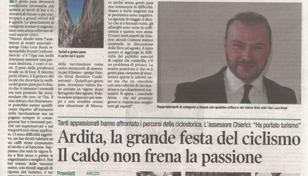 Corriere di Arezzo 26 luglio 2021