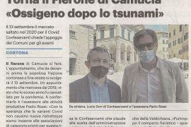 La Nazione di Arezzo 18 luglio 2021