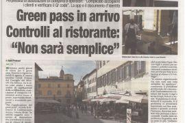 Corriere di Arezzo 3 agosto 2021