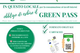 OBBLIGO GREEN PASS: SCARICA LA CARTELLONISTICA