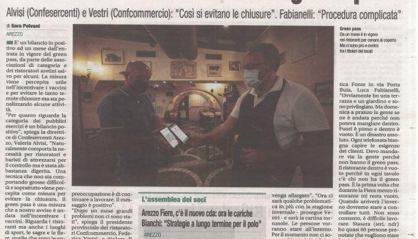Corriere di Arezzo 7 settembre 2021