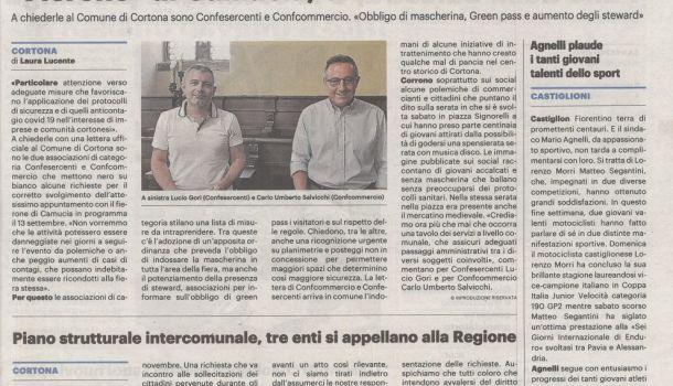 La Nazione di Arezzo 7 settembre 2021